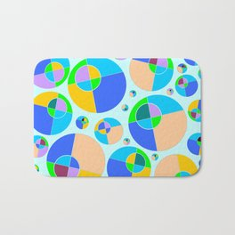 Bubble blue & orange Bath Mat