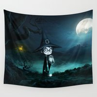 snape Wall Tapestries featuring Witch at THE NIGHTMARE by alexa