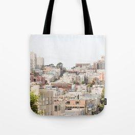 Top of a San Francisco Hill - San Francisco Photography Tote Bag
