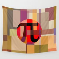 pi Wall Tapestries featuring Geometric Pi  by Vi Sion