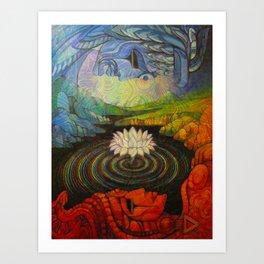 Earth-and-Sky Art Print