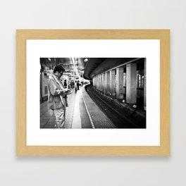 Man at Tsukiji Station  Framed Art Print