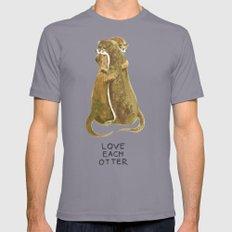 Love each otter Mens Fitted Tee MEDIUM Slate