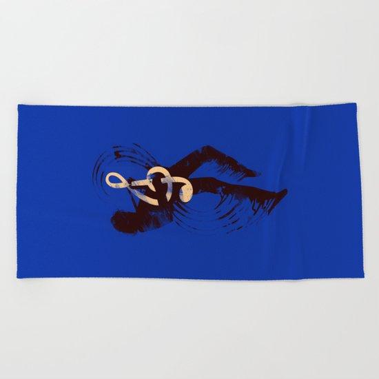 Solo (Blue) Beach Towel