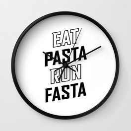 Eat Pasta Run Fasta v2 Wall Clock