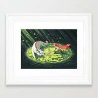 wallet Framed Art Prints featuring Duel by Freeminds