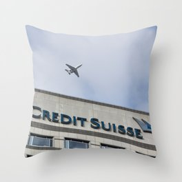 Credit Suisse Cabot Square  Throw Pillow
