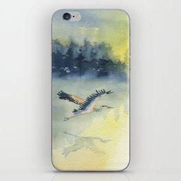 Flying Home - Great Blue Heron iPhone Skin
