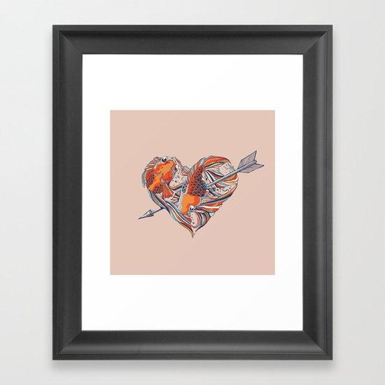 Form of Love Framed Art Print