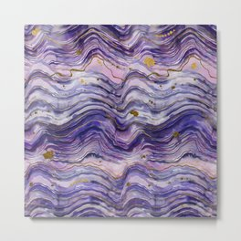Purple Geode or Amethyst Metal Print