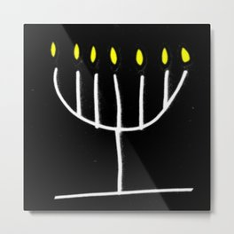 menorah,Hanukkah,jewish,jew,judaism,Festival ofLights,Dedication,jerusalem,lampstand,Temple Metal Print