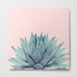 Agave Blush Summer Vibes #1 #tropical #decor #art #society6 Metal Print