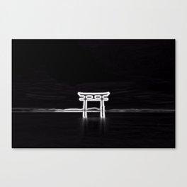NEON TEMPLE Canvas Print
