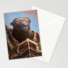 Bear Warrior Stationery Cards