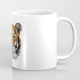 Tiger Head Portrait Poly Coffee Mug