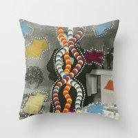 dna Throw Pillows featuring DNA by Naomi Vona