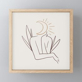 Moonhead Framed Mini Art Print