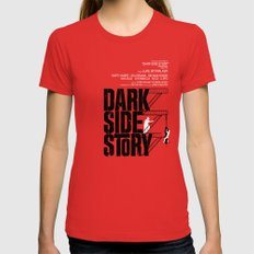 Dark Side Story Red LARGE Womens Fitted Tee