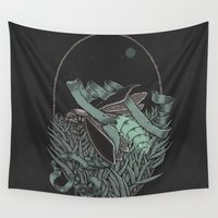 firefly Wall Tapestries featuring Firefly  by BEADLER Design and Illustration
