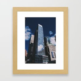 Clouds in the city Framed Art Print