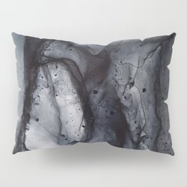 Smoke Diptych II - Alcohol Ink Painting Pillow Sham
