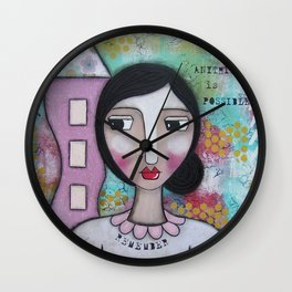 Remember anythin is Possible Wall Clock