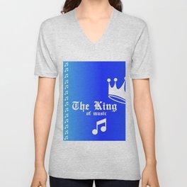 The king of music Unisex V-Neck