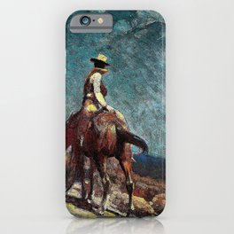 The Night Guard - William Herbert Dunton iPhone Case