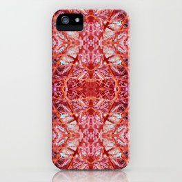 114- Large red and purple pattern iPhone Case