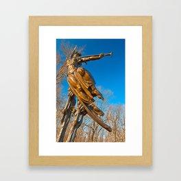 Golden Spirit of Louisiana Framed Art Print