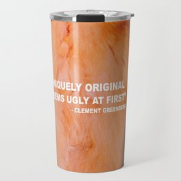 Issues with Clement Greenberg Travel Mug