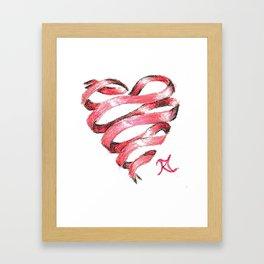 Ribbon Heart Framed Art Print