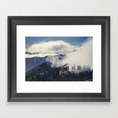 Mountain Clouds Framed Art Print