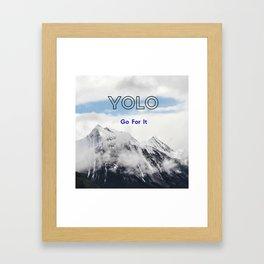 YOLO GO FOR IT #1 Framed Art Print