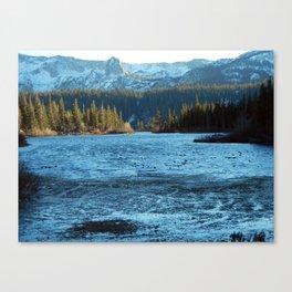 Convict Lake in the winter Canvas Print