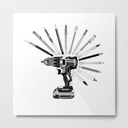 Power Art Tools Metal Print