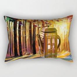 tardis tree Rectangular Pillow