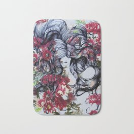 Twisted Flowers Bath Mat