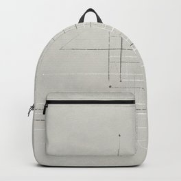 Neutral Abstract Minimalist Lines Backpack