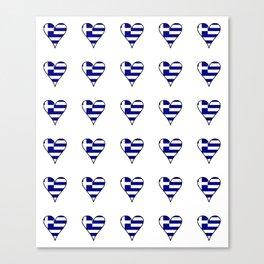 Flag of greece 3-Greek, Ελλάδα,hellas,hellenic, athens,sparte,aristotle. Canvas Print