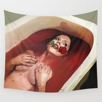 evil Wall Tapestries featuring Evil by Thanya Castrillón