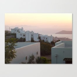 Sunset in Yalicabac Canvas Print