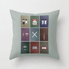 X-Files colors Throw Pillow