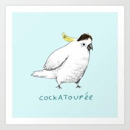 Cockatoupée Art Print