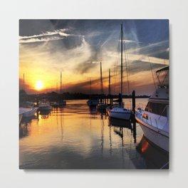 Sunset on the Marina Metal Print