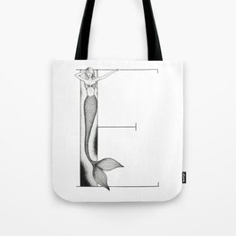 Mermaid Alphabet - E Tote Bag