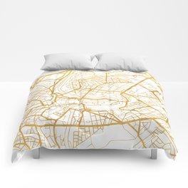 BERN SWITZERLAND CITY STREET MAP ART Comforters
