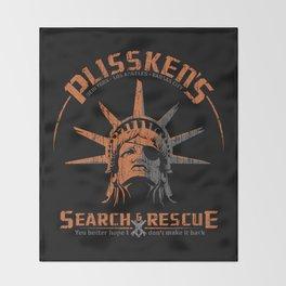 Snake Plissken's Search & Rescue Pty. Ltd. Throw Blanket