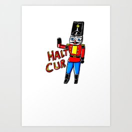 Crude Nutcracker Soldier Design Art Print