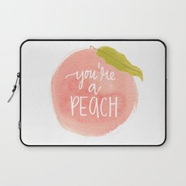You're a Peach Watercolor Painting Laptop Sleeve